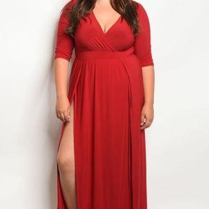 Dresses & Skirts - Ruby Red Maxi Dress